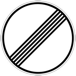 The sign is basically a speed limit sign with a strike through; much like a no smoking sign